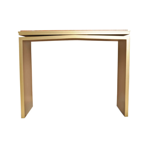 Arch Gold Marble Top Console Table Front