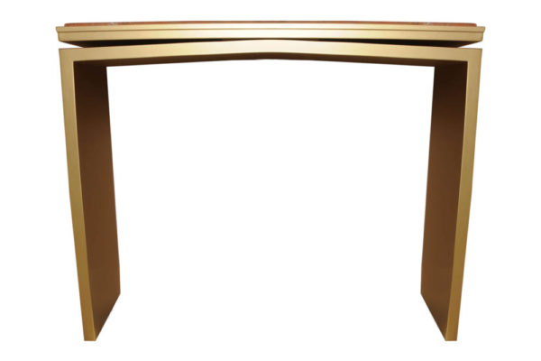 Arch Gold Marble Top Console Table Front View