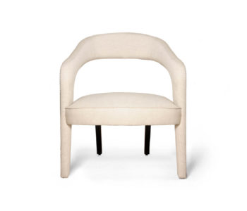Archy Upholstered Round Back Armchair