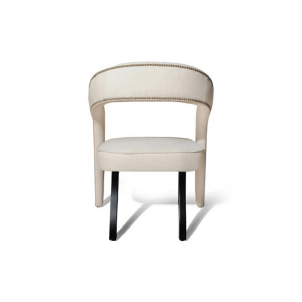 Archy Upholstered Round Back Armchair Back