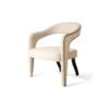 Archy Upholstered Round Back Armchair 4