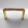Aria Wooden Gold Console Table with Marble Top 1
