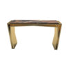 Aria Wooden Gold Console Table with Marble Top 6