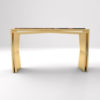 Aria Wooden Gold Console Table with Marble Top 4