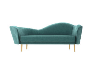 Avril Upholstered Sofa with Curved Back
