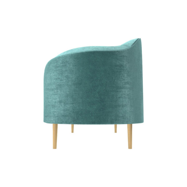 Avril Upholstered Sofa with Curved Back Left