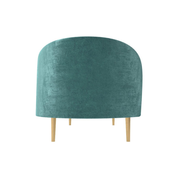 Avril Upholstered Sofa with Curved Back Right