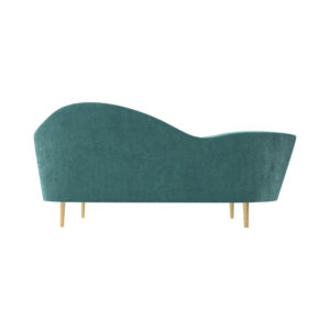 Avril Upholstered Sofa with Curved Back View