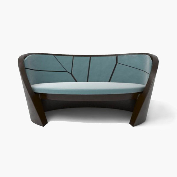 Bali Upholstered with Pattern Sofa Front View