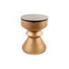 Bishop Round Gold Bedside Table with Drawer 3
