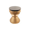 Bishop Round Gold Bedside Table with Drawer 5