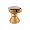 Bishop Round Gold Bedside Table with Drawer 6