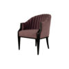 Bogo Upholstered Striped Armchair with Black Legs 3
