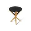 BonBon Round Dark Brown and Gold Cross Leg Side Table 1