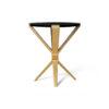 BonBon Round Dark Brown and Gold Cross Leg Side Table 3