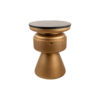 Bono Gold Circular Bedside Table with Drawer 2