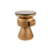 Bono Gold Circular Bedside Table with Drawer 4