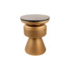 Bono Gold Circular Bedside Table with Drawer 3