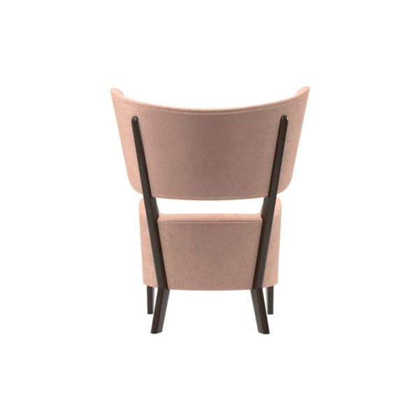 Boris Upholstered Tup Wing Back Armchair Back View