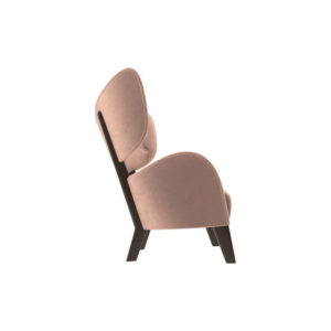 Boris Upholstered Tup Wing Back Armchair Right Side View