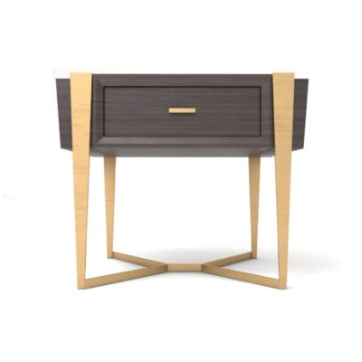 Box Bedside Table Front