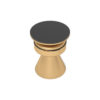Bush Gold Round Bedside Table with Drawer 3