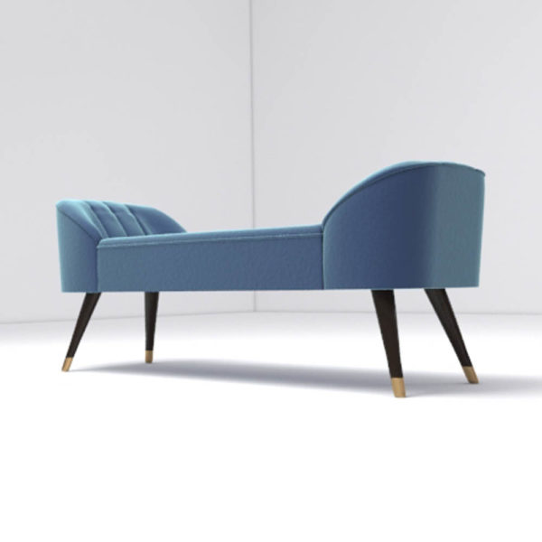 Celia Upholstered Bench with Arms Beside View