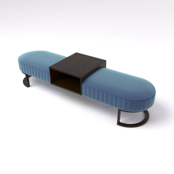 Charu Upholstered Bench with Curved Legs