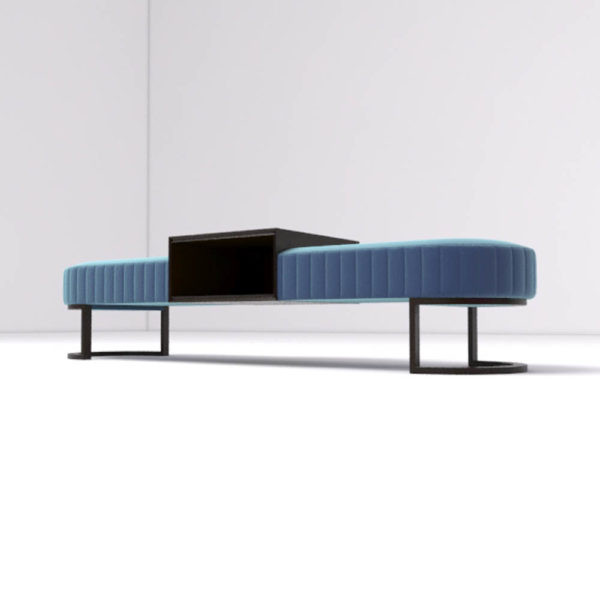 Charu Upholstered Bench with Curved Legs 3