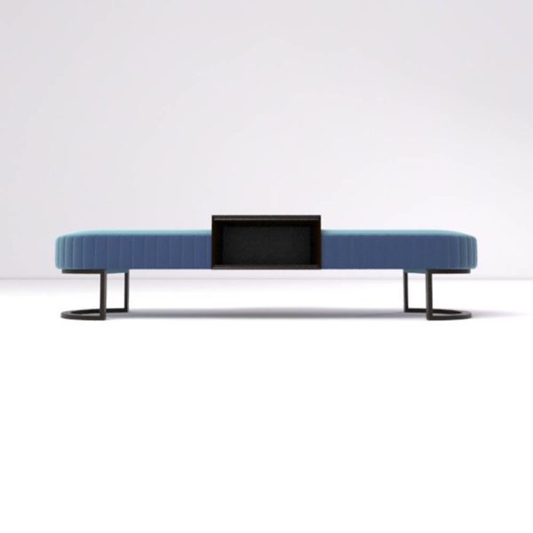 Charu Upholstered Bench with Curved Legs 2