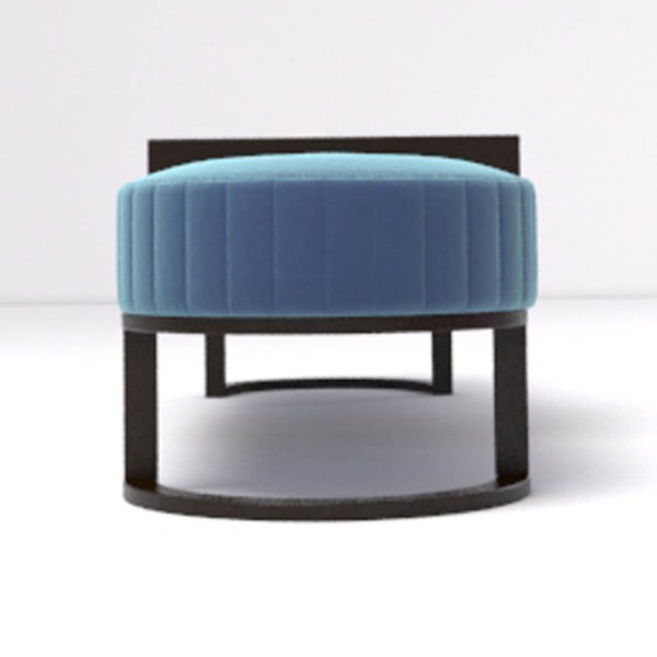 Charu Upholstered Bench with Curved Legs 4