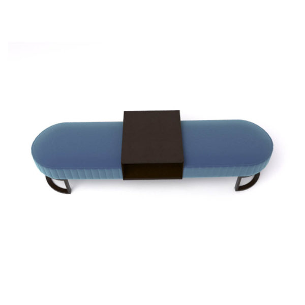 Charu Upholstered Bench with Curved Legs 5
