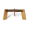 Cosmo Round Dark Brown Coffee Table with Gold Legs 5