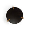 Cosmo Round Dark Brown Coffee Table with Gold Legs 4