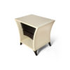 Crown Cream and Dark Brown Curved Bedside Table 4