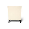 Crown Cream and Dark Brown Curved Bedside Table 5