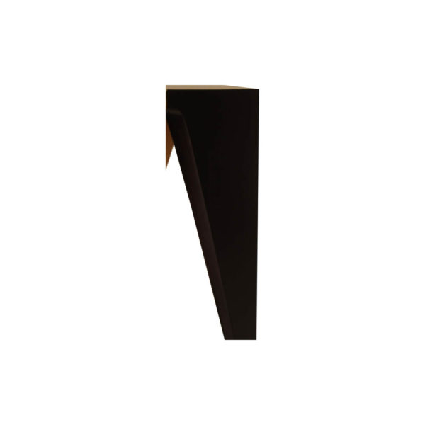 Diamond Hexagonal Black and Gold Side Table Detailed