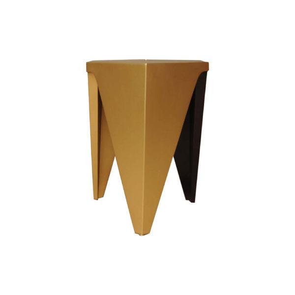Diamond Hexagonal Black and Gold Side Table Left