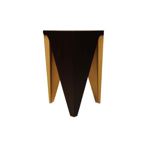 Diamond Hexagonal Black and Gold Side Table Right