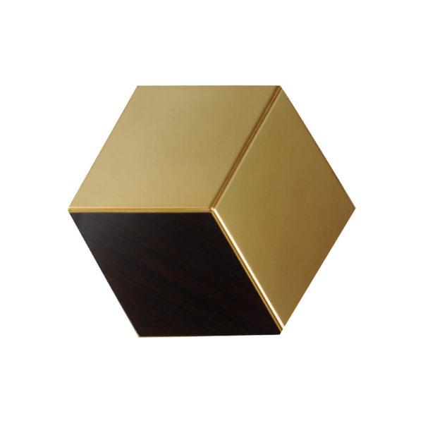Diamond Hexagonal Black and Gold Side Table Top