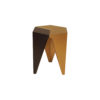 Diamond Hexagonal Black and Gold Side Table 2