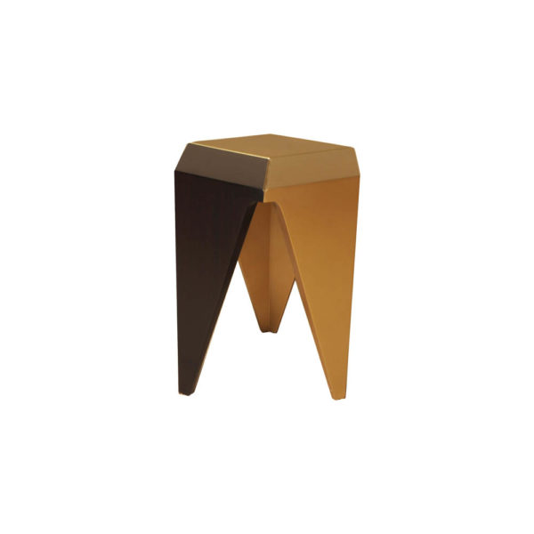 Diamond Hexagonal Black and Gold Side Table View