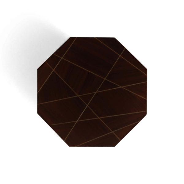 Drue Dark Brown 3 Drawer Bedside Table Top