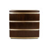 Eduard Dark Brown Wood with Brass Bedside Table 1