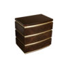 Eduard Dark Brown Wood with Brass Bedside Table 3