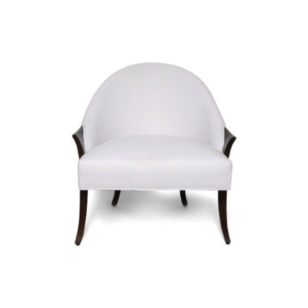 Elisa Upholstered Armchair Wooden Arms