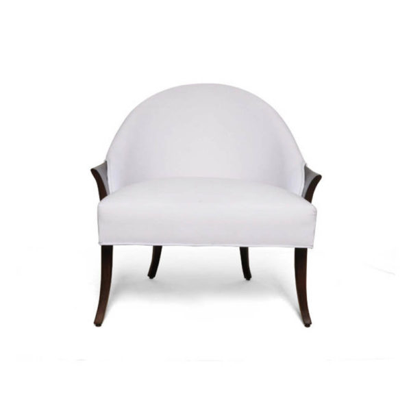 Elisa Upholstered Armchair Wooden Arms Front