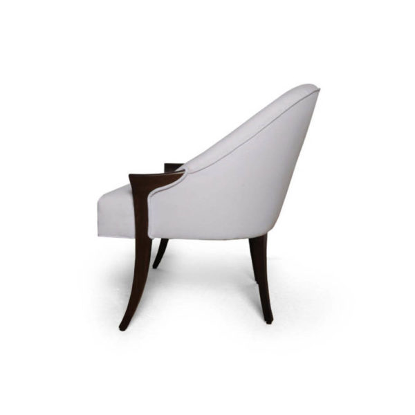 Elisa Upholstered Armchair Wooden Arms Left