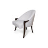 Elisa Upholstered Armchair Wooden Arms 2
