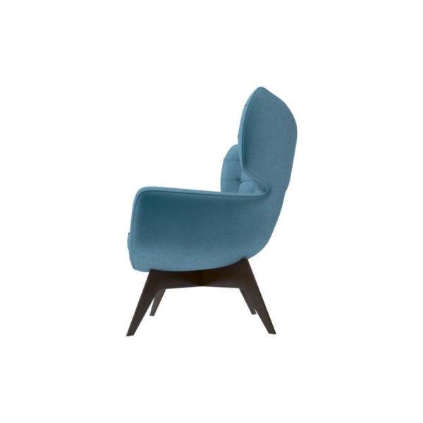 Farida Upholstered Button Armchair Left